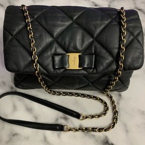 Handbags - *SOLD* FERRAGAMO QUILTED BLACK BAG
